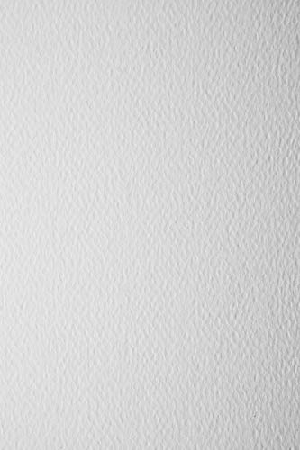10 Blatt Weiß 220g Bastelkarton einseitig strukturiert DIN A4 210x297 mm Prisma Bianco für Kartengestaltung Einladungen Visitenkarten Diplome Zertifikate zum Basteln und Dekorieren
