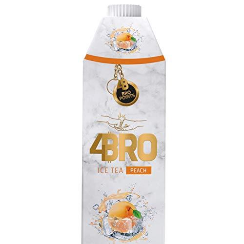 4Bro - Ice Tea Peach 1000ml | der Eistee für Gamer. Shisha und Eis Tee Liebhaber