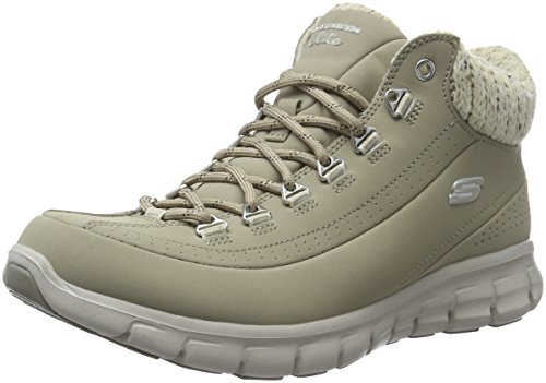 Skechers SYNERGY-WINTER NIGHTS, Botas Mujer, Beige (STN), 37