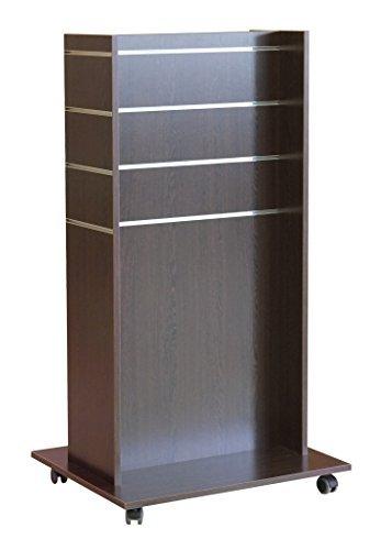 Ladeneinrichtung Lamellenwand H Gondel rollbar Wenge (73 x 60 x 133 cm)