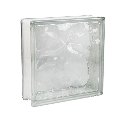 5 piezas FUCHS bloques de vidrio nube neutro 24x24x8 cm