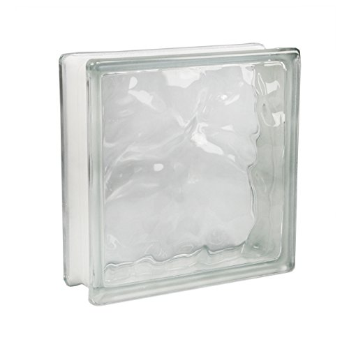 5 Stück FUCHS Glassteine Wolke Klar 24x24x8 cm