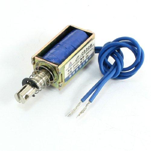 Sourcingmap a14031000ux0120 Jf-0530B Tipo Push Pull Solenoide Elettrico Elettromagnete, Grigio/Blu
