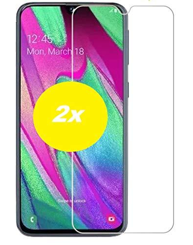 Smartphone Equipment [2er Pack Panzerglas für Samsung Galaxy A40 Echt-Hartglas 9H Glasfolie Schutzfolie Glas Folie Panzerfolie Display Schutz