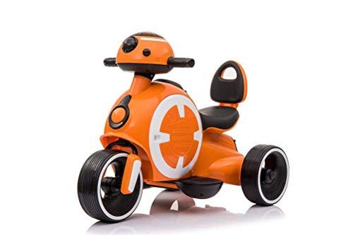 Gymy Robot de niños triciclo eléctrico antideslizante y anticaída universal bebé andador para hombres y mujeres, naranja