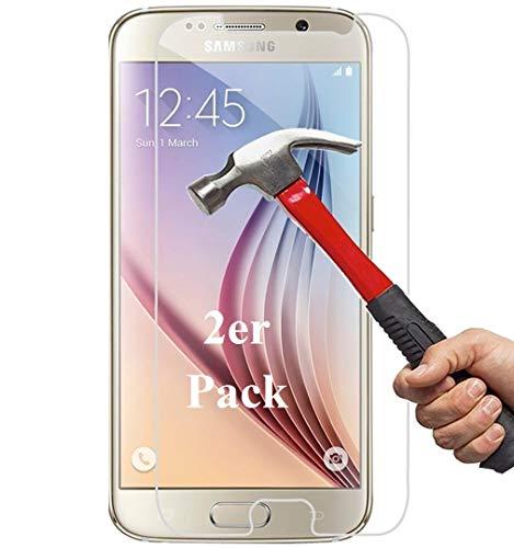 Smartphone Equipment [2er Pack] Panzerglas für Samsung Galaxy S6 (Nicht S6 Edge) Echt-Hartglas 9H, Glasfolie Schutzfolie Glas Folie Panzerfolie Bildschirm Schutz
