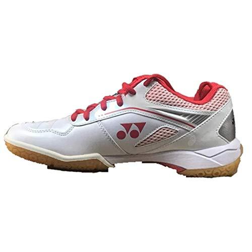 Yonex 65Z Damen Badmintonschuhe, (White/High Red), 36 EU