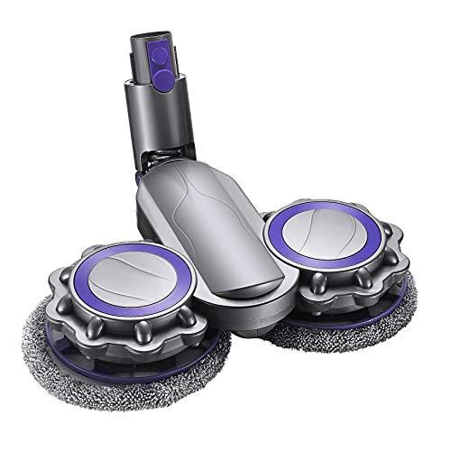 KOSIEJINN Cabezal de Trapeador Eléctrico Compatible con Dyson Modelos Cabezal de Aspiradora de Pisos Accesorio para Pisos dura Mojado y Seco Excluyendo Contenedores de Agua (V6)