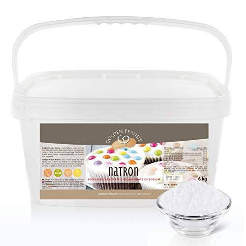 Natron - Natriumbicarbonat 6 kg   Backsoda   höchste Reinheit 99,3%   ohne Zusätze   geprüfte Lebensmittelqualität   Gluten- u. Lactosefrei   Golden Peanut