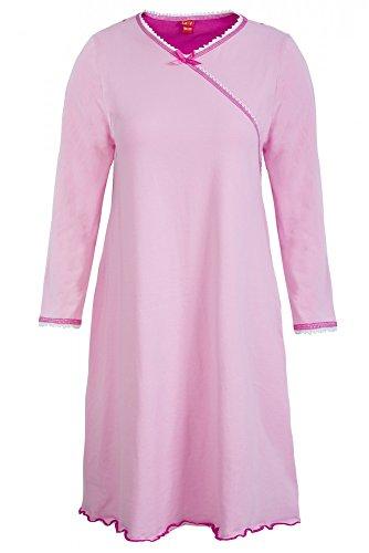 La-V Mädchen Nachthemd Langarm Rose/Größe 128/134