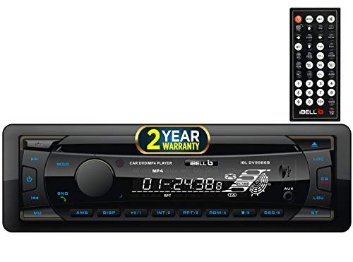 iBELL 9986B Car DVD Player & Audio System Compatible with DVD/CD/USB/SD,180 Watt Car Stereo Player with Bluetooth/FM Radio & Remote Control, Black