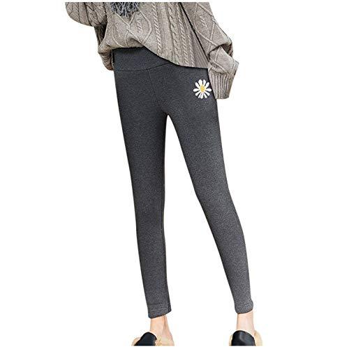 Leggings térmicos para mujer, forrados, con forro interior de forro polar de talle alto, para invierno, sólidos, térmicos, estrechos, para hacer deporte, hacer yoga, correr