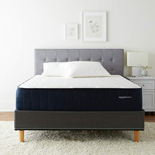 Amazon Basics Signature Hybrid Mattress  Cushion Firm Feel  Gel Infused Memory Foam for Deeper Support  Cool to Touch top Fabric  CertiPURUS Certified  12inch Queen