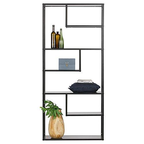 Maison ESTO Teun-Kabinett, Schwarz, Breite: 85 cm Tiefe: 35 cm Höhe: 188 cm