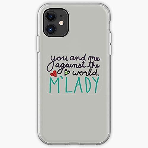Compatible con iPhone 12/11 Pro Max 12 mini SE X / XS Max XR 8 7 6 6s Plus Funda Chang Dupain Chat Mlady Noir Miraculous Marinette Cat Adrien Ladybug Agreste I Trendy- Cajas del Teléfono Cover