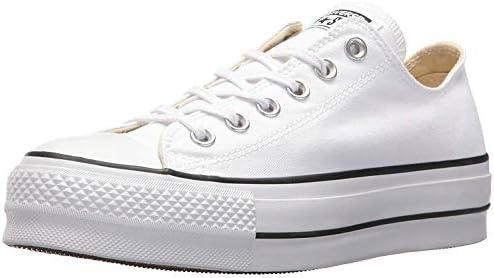 Converse Chuck Taylor CTAS Lift Ox Canvas, Zapatillas Mujer, Blanco (White/Black/White 102), 37.5 EU