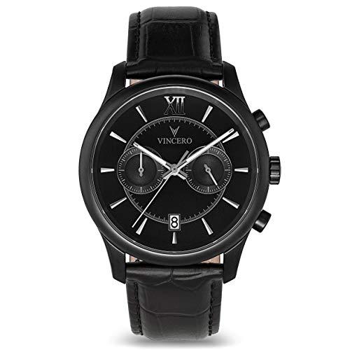 Vincero Men's Bellwether Luxury Watch 44mm Quartz Movement Matte Black