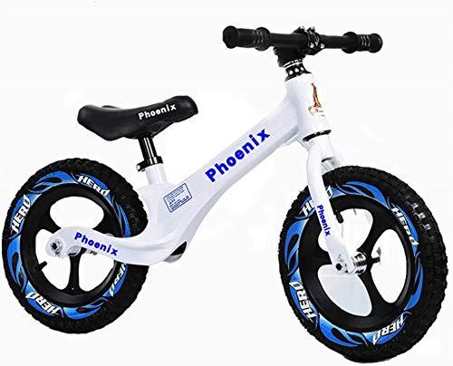 Bicicleta de Equilibrio para niños pequeños, Bicicleta de Peso Ligero sin Pedazo para niños pequeños para niños de 3 a 6 años con Asiento Ajustable, Muy Adecuado para Juegos competitivos