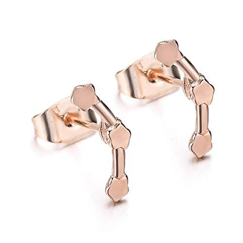YBFZW Ohrringe Für Damen,Goldene DREI Sterne Einfache Art Und Weise Bolzenohrring Ursprüngliche Handgefertigte Persönlichkeitskleidungszusätze Für Kursteilnehmerpaar-Geschenkschmucksachen