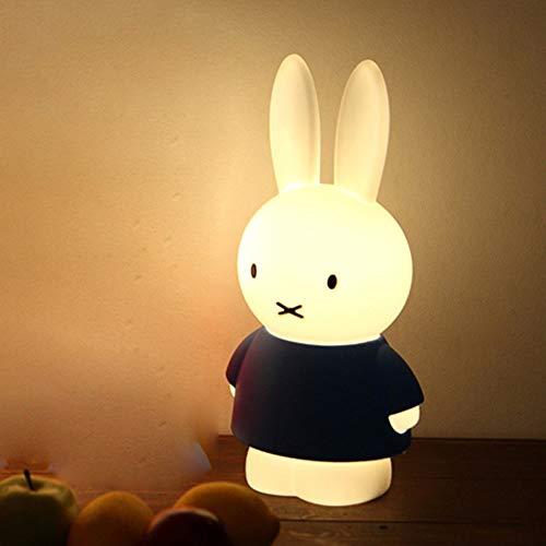 JINGBO Luz de Noche LED para niños,Lámpara de Mesita de Noche, 6 Tipos de Brillo Ajustable,Temporizador,Recargable, para Niños, Dormitorio, Cámping