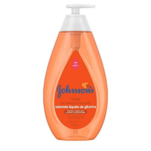 Sabonete Líquido de Glicerina Infantil Johnson's Baby Da Cabeça aos Pés 750ml