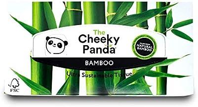 The Cheeky Panda 100 Percent Bamboo Facial Tissue Flat Box, Pack of 80