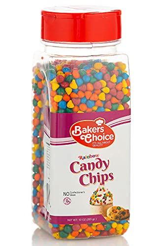 Rainbow Candy Coated Chocolate Chips - Dairy Free, Kosher - 10 oz. - Baker's Choice