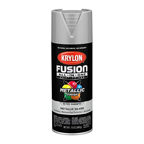 Krylon K02773007 Fusion All-In-One Spray Paint for Indoor/Outdoor Use, Metallic Silver