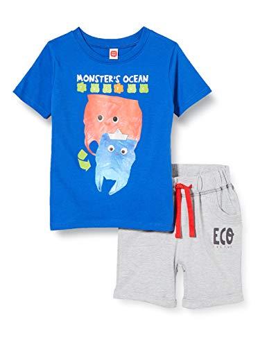 Tuc Tuc Conjunto Camiseta Y Bermuda Punto Bolsillos NIÑO Azul Eco