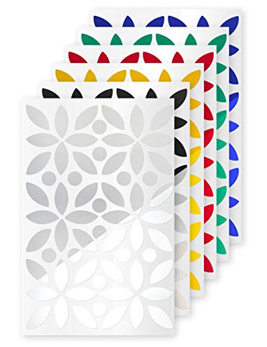 reflexsticker für Fahrradrahmen | Reflektor-Aufkleber in 6 Farben zur Auswahl | dekorativ und reflektierend | auch für Zubehör wie Helme, Trinkflaschen, Kindersitze | Kinder Laufrad Roller (weiß)