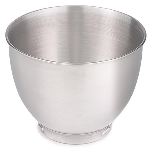 Klarstein Carina Edelstahl-Schüssel Küchen-Schüssel Ersatzteil für Küchenmaschine 4 Liter chrom-silber