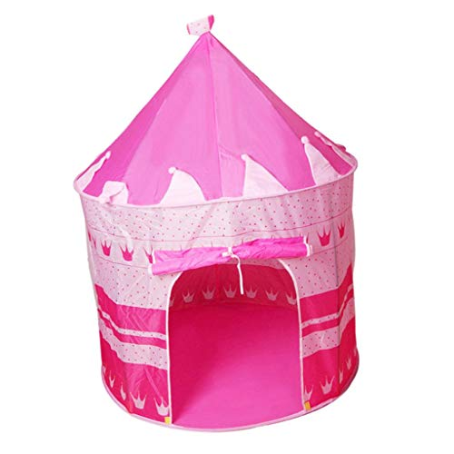 lahomia Prince Castle Play Tent Kid Outdoor Indoor Beach Summer Tent Camp Shelter - Pink