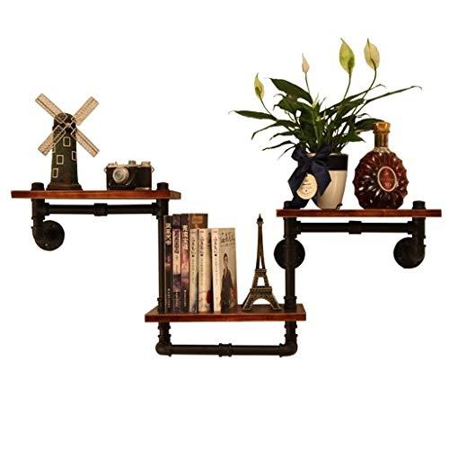 LY 3 Tier Drijvende Plank Industriële Pijpen, Metalen Wandmontage Boekenkast Opslagrek, Decoratie Rek boven Bed voor Slaapkamer