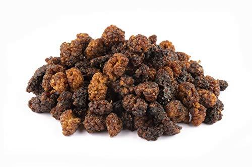 Bio wilde Maulbeeren 1kg sonnengetrocknete Berg Maulbeeren ideal für Müslis, roh, aus Usbekistan, ungesüsst, ungeschwefelt, naturbelassen, Rohkost 1000g