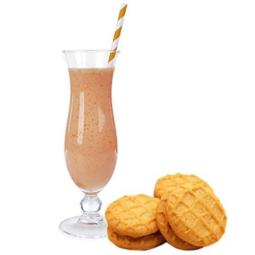 Cookies Creme Molkepulver Luxofit mit L-Carnitin Protein angereichert Wellnessdrink Aspartamfrei Molke (1 kg)