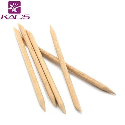 kads 5pcs/set Palos de Madera Naranja Palo de Cutícula de Uña eliminador de cutículas para uñas manicura Cuidado