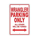 YASMINE HANCOCK Jeep Wrangler Parking Only Metall Plaque