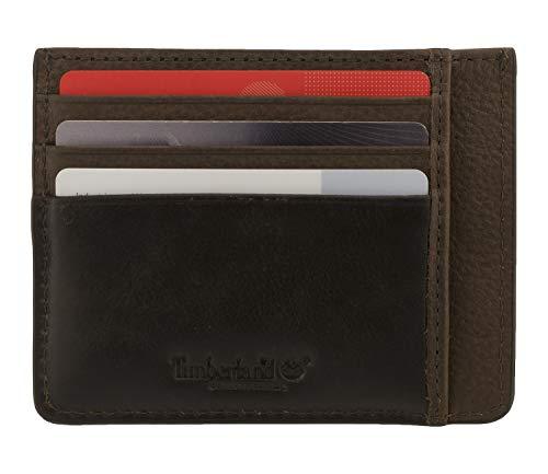 Timberland 8219 - Estuche para tarjetas de crédito, color marrón