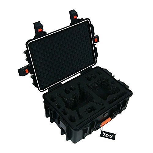 HUL Military Spec Waterproof Weather-Proof Hard Shell Carrying Case for Parrot Bebop 2 FPV and Skycontroller 2 with VR Goggles, iPad and Extra Batteries
