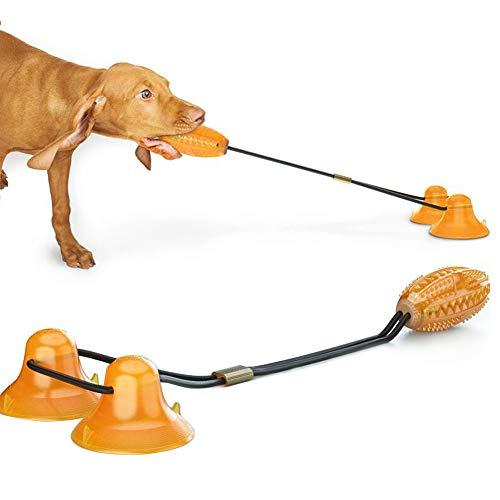 Pidsen Hundespielzeug mit 2 Saugnapf, Hundespielzeug Futterspielzeug für große und kleine Hunde,GeeignetHundetraining, Leckerlis zum Beißen, Spielzeug für Langeweile