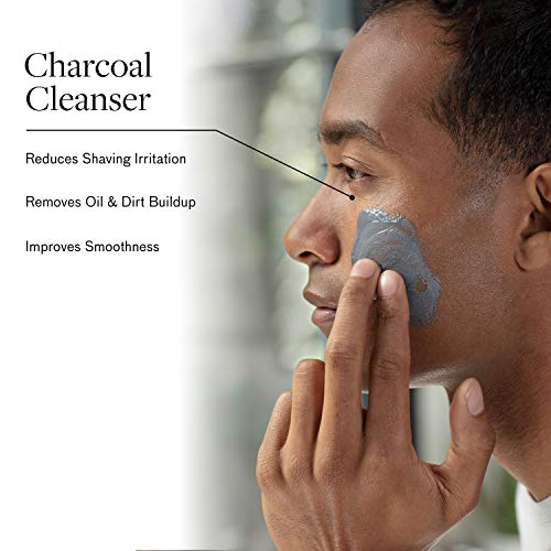 Men's No-Nonsense Charcoal Cleanser (1.7 oz.): Unclog Pores of Oil, Dirt, and Pollution - Experience a Smooth and Fresh Face - Korean Made Grooming for the Modern Man - Reach Your Best Look with Lumin