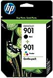 HP 901 Combo-Pack Black/Tri-Color - Cartucho de Tinta para impresoras (Negro, Cian, Magenta, Amarillo, HP Officejet J4580, Inyección de Tinta, 20 - 80%, 15 - 32 °C, 20 - 80%)