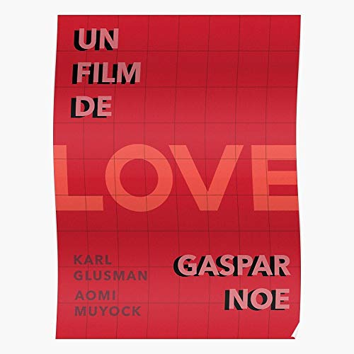 Noe Love Red Glusman French Gaspar Movie Karl Film Regalo para la decoración del hogar Wall Art Print Poster 11.7 x 16.5 inch