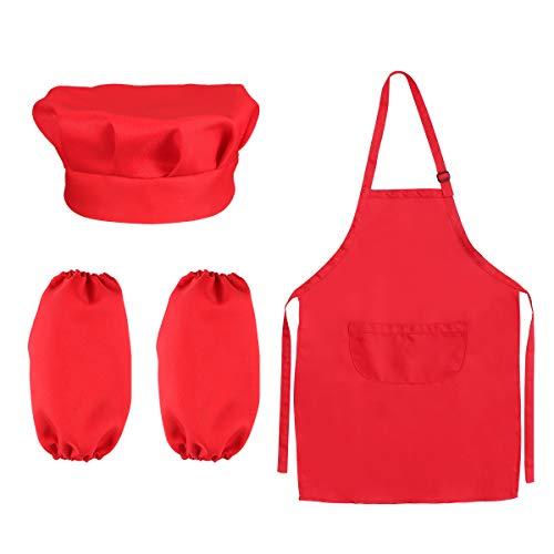 Chef Set for Kids Bambini Cooking Dress Up Giochi di ruolo Set con grembiule, cappello da cuoco