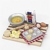 MYHH 2 Mini-Haus-Spielzeug Simulation Schneidebrett Dessert Herstellung von Brot Tabelle.