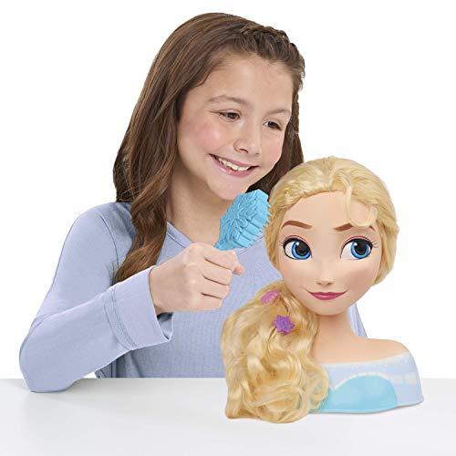 JP Disney Styling 12902 Frozen Elsa Cabeza de Estilo, sin Color