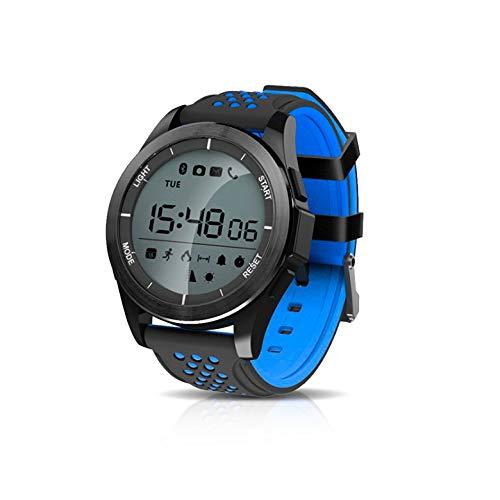 KawKaw F3 Sportuhr - Die 1,1 Zoll Smartwatch mit Silikon-Armband sowie einen integrierten Gesundheits- und Fitness-Monitor und rundem Display wurde konzipiert für aktive Menschen (Schwarz/Blau)