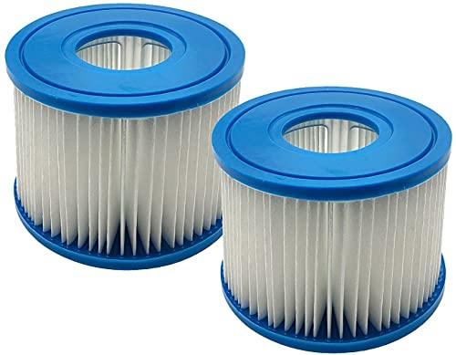 WuYan Paquete de 2 filtros de piscina para cartucho Intex PureSpa tipo S1 para cartucho de filtro de piscina inflable PureSpa 29001E