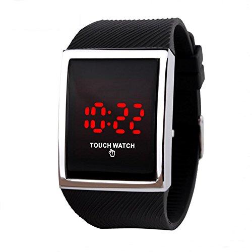 Touch Relojes Niños Tecnología Digital LED Reloj de Deporte para Niños Niñas Negro, 10 + Años de Edad Los Niños Adolescentes