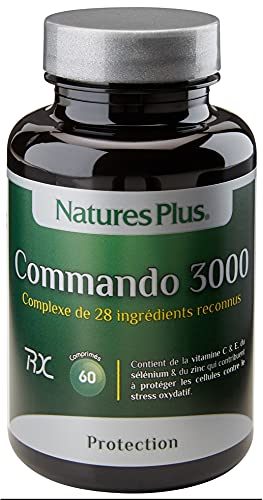 Nature s plus - Commando 3000-60 comprimés - La guerre contre les radicaux libres